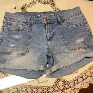 Old navy boyfriend jean shorts blue denim